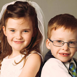 Twin communion by D Ivan Martirena - Babies & Children Child Portraits ( communion, kids, twins )