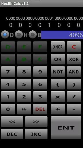 HexBinCalc 16進 2進数同時表示電卓
