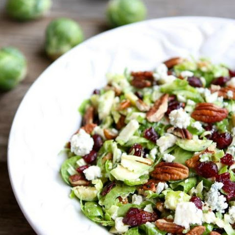 Chopped Brussels Sprouts with Dried Cranberries, Pecans & Blue Cheese