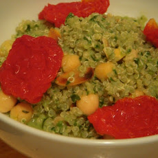 Lemon quinoa with fresh pesto