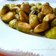 Oven-Roasted Balsamic Brussels Sprouts