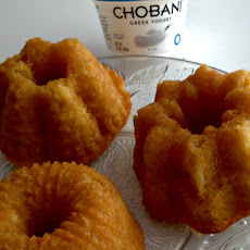 Baileys Irish Cream Cakes with Chobani Yogurt