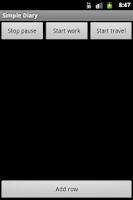 Screenshot of Simple Diary