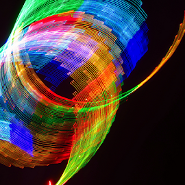Tube of light ! by Jim Barton - Abstract Light Painting ( tube of light, laser light, tube, light design, colorful, laser design, laser, light, science )