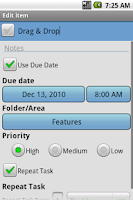 Screenshot of QuickTodo Pro
