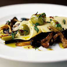 Open Lasagne Of Mushrooms & Olives