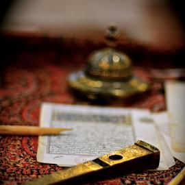 Scene from Arabia by Mauritz Janeke - Digital Art Things ( uae, mauritz, abu dhabi, brass, golden, display piece, exhibit )