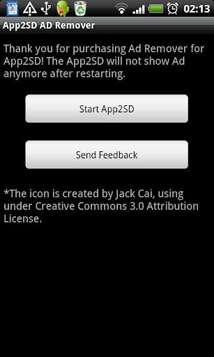 Ad Remove Plugin for App2SD