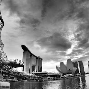 Gloomy day by Barry Allan - Black & White Buildings & Architecture