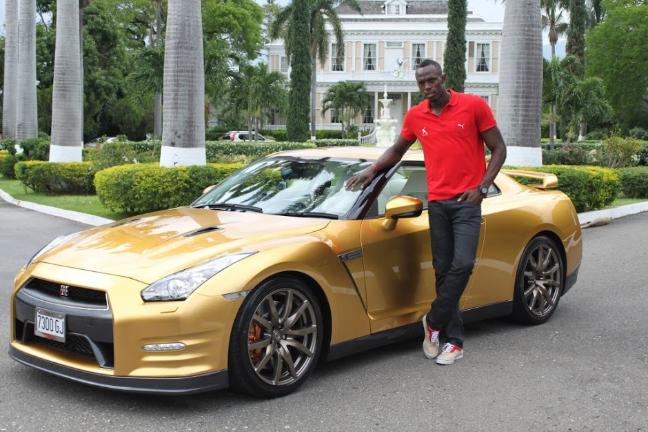 Usain Bolt-nissan-gt-r