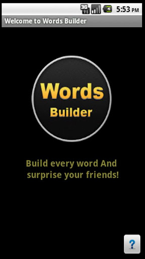 Words Builder For Friends