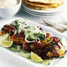 Tandoori Chicken and Toasted Pappadams