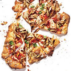 Cracker-Crust Mushroom Pizza