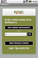 Screenshot of McAlister's Deli