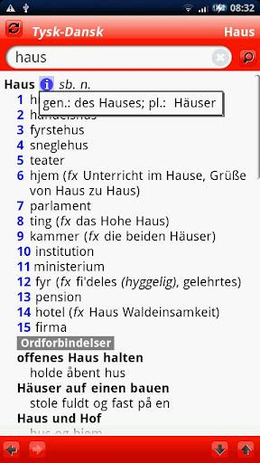 Tysk Large ordbog