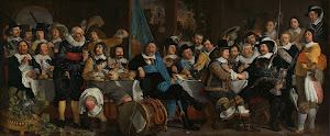 RIJKS: Bartholomeus van der Helst: Banquet at the Crossbowmen's Guild in Celebration of the Treaty of Münster 1648