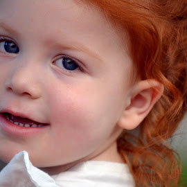 My red head by Taylor Bertsch - People Family ( red hair, beautiful, blue eyes )