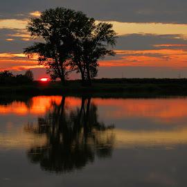 Sunset at the magic lake.. by Željko Salai - Landscapes Sunsets & Sunrises