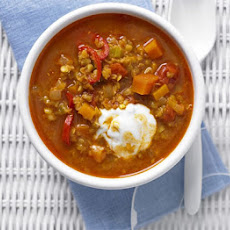 Spiced Lentil & Ginger Soup