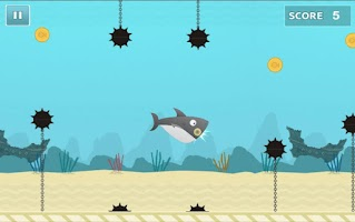Screenshot of Fatty Shark (Flappy Shark)