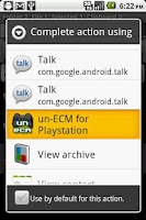 Screenshot of un-ECM for Droid