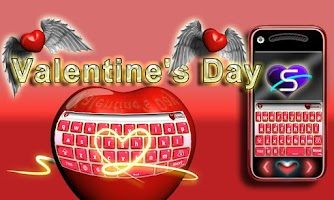 Screenshot of SlideIT Valentine's Day Skin