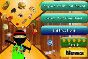 Screenshot of Ninja Kitchen Lite