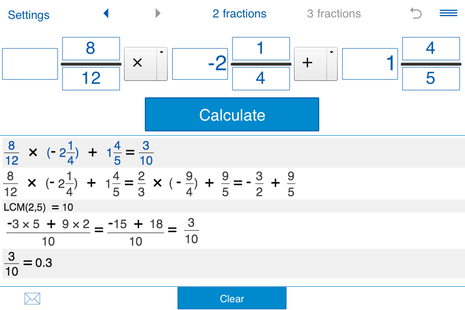 Fraction calculator Screenshot 3