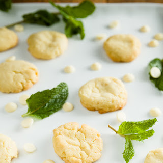White Chocolate and Fresh Mint Brown Butter Cookies
