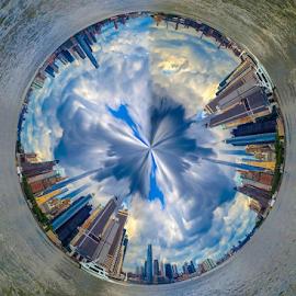 360 Degree View of Manhattan City Panorama by Fahad Jilani - City,  Street & Park  Skylines