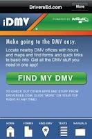Screenshot of DMV