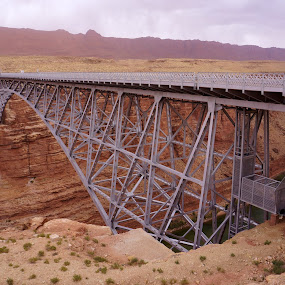 Navajo Bridge by Jim Czech - Buildings & Architecture Bridges & Suspended Structures ( colorado river, cliffs, arizona, canyon, bridge, bridges,  )