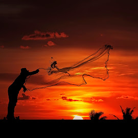 Shrimp Fishermen by Ben Bebe - People Professional People (  )
