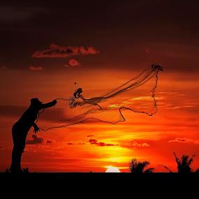 Shrimp Fishermen by Ben Bebe - People Professional People (  )