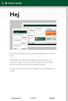 Screenshot of Jyske Mobilbank med Swipp