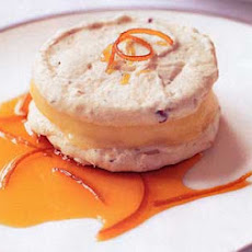 Hazelnut and Almond Macaroons with Orange Semifreddo