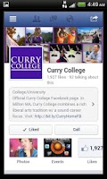 Screenshot of myCurry Mobile