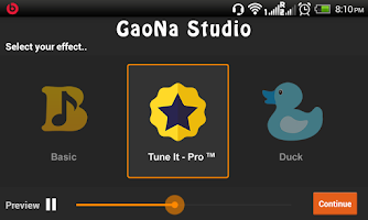 Screenshot of GaoNa Karaoke