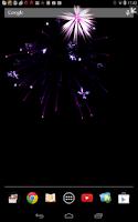 Screenshot of Christmas Fireworks Wallpaper