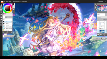 Screenshot of LayerPaint HD