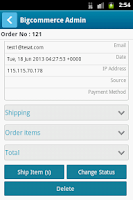 Screenshot of Bigcommerce Admin App