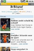 Screenshot of De Krant