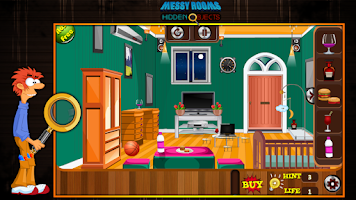 Screenshot of Messy Rooms Hidden Objects