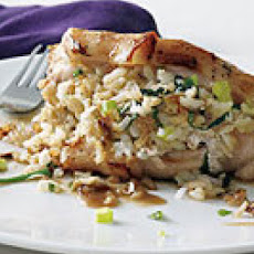 Jasmine Rice-Stuffed Pork Chops