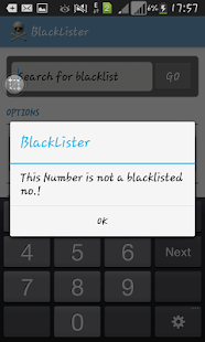 Universal Blacklist Numbers - screenshot