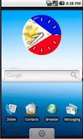 Screenshot of Pinoy Clock Widget free
