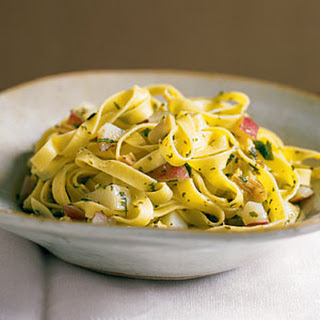 Fettuccine with Clam Sauce and Potatoes