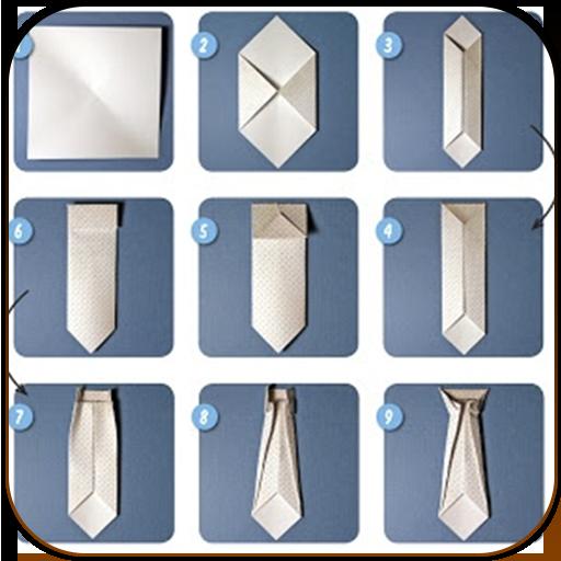 Галстук из бумаги своими руками оригами
