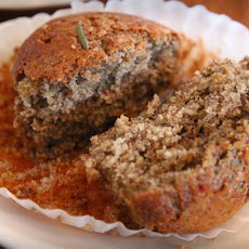 Peels-Inspired Buckwheat and Oat Bran Rosemary Lemon Muffins