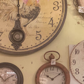 Time on the Wall by Jenna East - Artistic Objects Antiques ( time, vintage, clocks, wall, antiques )